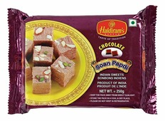 Индийские сладости Soan Papdi CHOCOLATE Haldirams (Соан папди шоколадная, Халдирамс), 250 г.