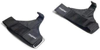 Ремень для тяги ProXima, с крюком, цвет: черный, 2 шт