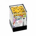 Набор желтых игровых кубиков «36D6»