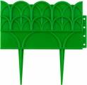 """Бордюр декоративный """"Grinda"""", для цветников, цвет: зеленый, 14 х 310 см"""