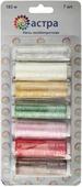 """Нить филаментная """"Астра"""", цвет: белый, бежевый, зеленый, 100D/3, 182,9 м, 7 шт"""
