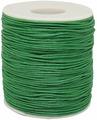 Шнур вощеный, на катушке, цвет: зеленый, 1 мм x 100 м