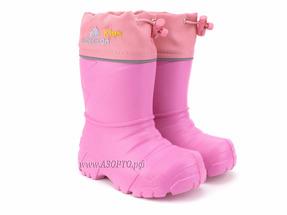229110-04 Нордман Кидс (Nordman Kids), сапоги резиновые детские eva со съемным меховым вкладышем, розовый