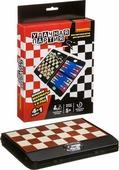 Настольная игра Bondibon Удачная партия 4 в 1, шахматы, шашки, нарды, 5 в ряд, ВВ3481