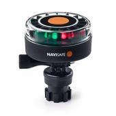 Ходовой огонь трехцветный беспроводной светодиодный Navisafe Navilight TriColor 2NM/340 7090017580377 90 x 68 мм 5 режимов на кронштейне белый/красный/зеленый