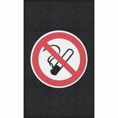 """Противоскользящий мат с логотипом """"Курение запрещено"""", крупное зерно, черный (900 x 1500мм вертикальный) {BMES..."""