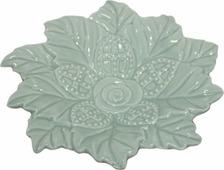 Декоративная тарелка Magic Home С лепестками, зеленый
