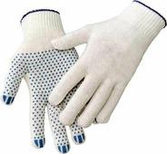 Перчатки защитные, с ПВХ, универсальные, GL011520, белый, 10 пар