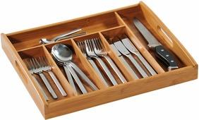 """Подставка для столовых приборов """"Kesperd"""", с ручками, цвет: коричневый, 38 х 32 х 4 см"""