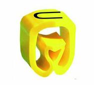 """Маркер закрытого профиля Partex PA-02 на провод 0.2-1.5 мм², символ """"U"""", желтый/черный (катушка 1000 шт.) {PA-..."""