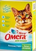 """Лакомство """"Омега Neo+"""" с кошачьей мятой """"Мятное настроение"""" для кошек 90 таблеток, 45 г."""