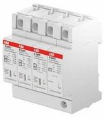 """OVR H T2-T3 3N 20-275 P QS Ограничитель перенапряжения 3P+N, тип 2+3, 275В, 20kA технология """"Quick safe"""" (сменные картриджи) ABB"""