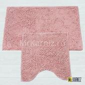 Комплект ковриков для ванной и туалета Люкс розовый
