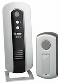 ЭРА C108 звонок беспроводной цифр. 100м, 6 мелодий+рег.громк 2хАА/A23 с кнопкой IP44, индик. BL 5792 lБ0018997