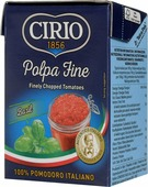 Cirio Chopped Tomatoes With Basil томаты резаные очищенные с базиликом, 390 г