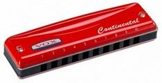 VOX Continental Type-2-D Губная гармоника, тональность Ре мажор, цвет красный