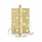 Петля дверная универсальная латунная Venezia CRS010 102 мм полированная латунь
