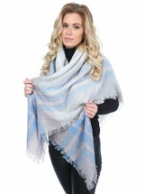 Платки Vilado 5897 молочный, голубой, серый меланж