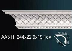 Лепнина Перфект Потолочный плинтус С рисунком АА311