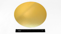 Подложка ламинированная золото/серебро круглая d=280мм.2924/0012