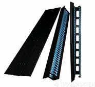 Боковые органайзеры распределительной рамы с боковой панелью, 47U, 150 мм, 2 шт., черные