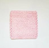 Ткань Caramelkalife Топ-резинка, размер 15*15 см. Цвет Нежно-розовый.