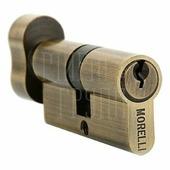 Цилиндр Morelli 70 мм/30+10+30 ключ-вертушка античная бронза