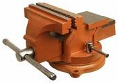 Тиски слесарные, 100 мм, поворотные, с наковальней// Sparta 186235