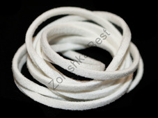 Шнур замшевый белый, 2.5×1.5 мм, 1 метр