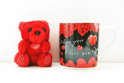 """набор подарочный """"мишка+кружка I love you"""" арт.17290-2"""