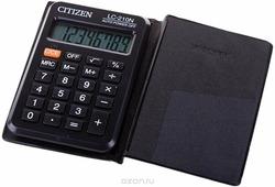 Калькулятор карманный, 8 разр., 98x60x9.8мм, (Citizen)