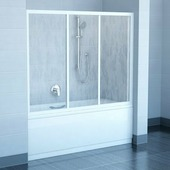 Шторка для ванны Ravak AVDP3-160 белый+транспарент