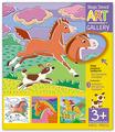 Айрис-пресс издательство Трафареты. Быстроногие лошадки. 3 пластиковые основы. АРТ Галерея