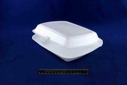 Ланч-бокс вспененный односекционный LB 81 белый (200шт).1467/1