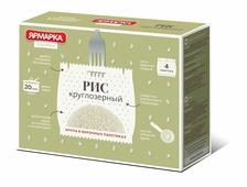 Ярмарка Отборная рис круглозерный в варочных пакетиках, 4 шт по 62,5 г