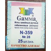 Иглы Гамма 28 гобеленовые, 25 шт., арт. N-359