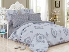 Комплект постельного белья Cleo Satin de' Luxe Ацерра, 31/512-SK, светло-серый, темно-серый, евро, наволочки 50х70, 70х70