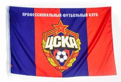 Флаг 90х135 с эмблемой ПФК ЦСКА