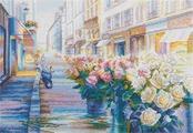 """Набор для вышивания крестом Panna """"Цветущий Париж"""", 31 x 22 см"""