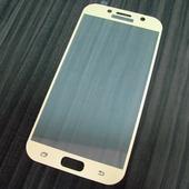 для Samsung A7 2017 Защитное стекло Ainy Full Screen Cover 2,5D 0,33 мм золотое