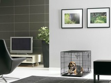 """Переноска-клетка для животных Savic """"Cottage"""", цвет: черный, 76 х 49 х 55 см"""