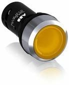 CP1-31Y-10 Кнопка с подсветкой желтая 24В AC/DC с плоской клавишей без фиксации 1НО, металл.кольцо ABB, 1SFA619100R3113