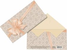 """Конверт для денег Дарите Счастье """"Подарок"""", персиковый бант, 16,5 х 8 см"""