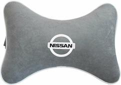 "Подушка на подголовник Auto Premium ""Nissan"", цвет: серый. 37443"