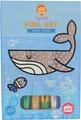 Tiger Tribe Набор для декорирования фольгой Подводный мир