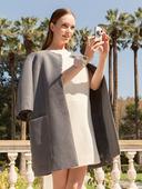 Электронная выкройка Burda - Пальто с круглым вырезом горловины 102