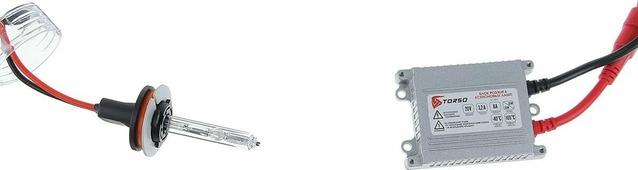 Комплект ксеноновых ламп Torso, блок розжига AC Slim, 35 Вт, 12 В, цоколь H8, 5000 К. 1059357