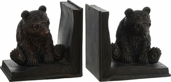"Подставка-ограничитель для книг Феникс-Презент ""Медведь"", 12 х 9 х 11,5 см, 2 шт"