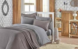 Покрывало с наволочками Hobby Home Collection Naturel, 180 х 230 см Полутораспальный серый