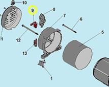 Угольные щетки 2шт. со щеткодержателем PE11000 (110002300) ECO 304020022500